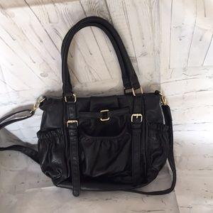 Divided black bag